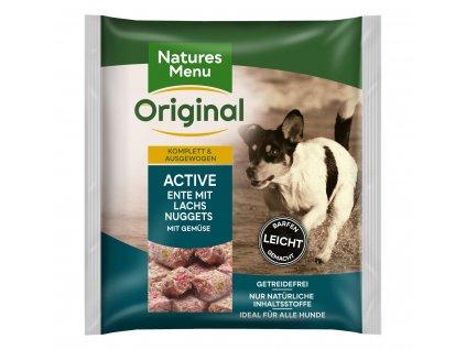 natures menu raw barf 60 pct nugety pro aktivni psy mrazene maso krmivo pro psy 1 kg