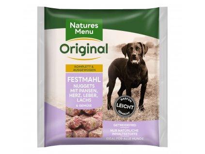 natures menu raw barf 60 pct nugety svatecni mrazene maso krmivo pro psy 1 kg