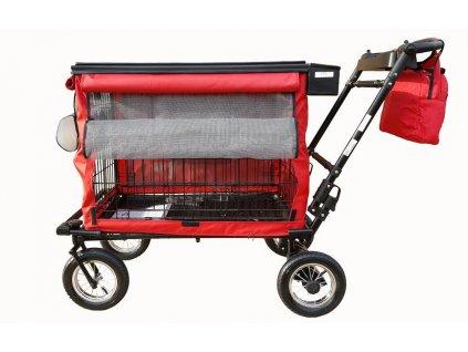petmobil l vystavni vozik na psy cerveny 4