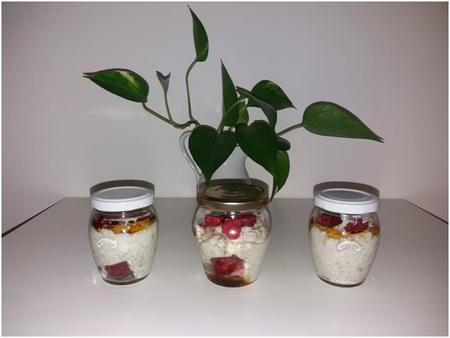 Tvarohovo-smetanový dezert (snídaně/svačina) s lněnými pokrutinami