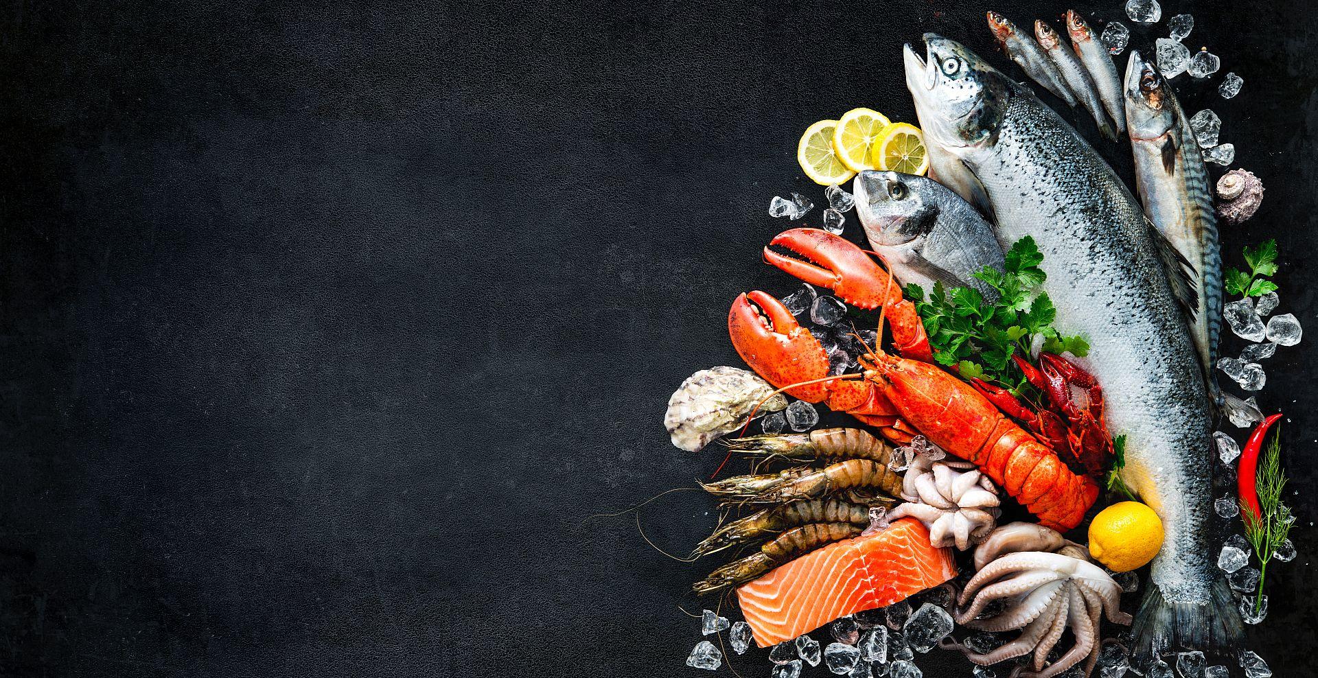 Čerstvé ryby a seafood