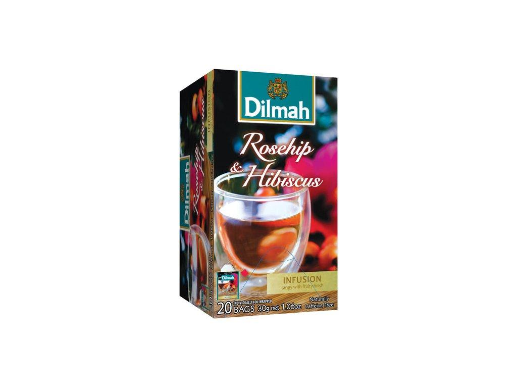 Čaj bylinný ibišek/šípek - 20 sáčků Dilmah