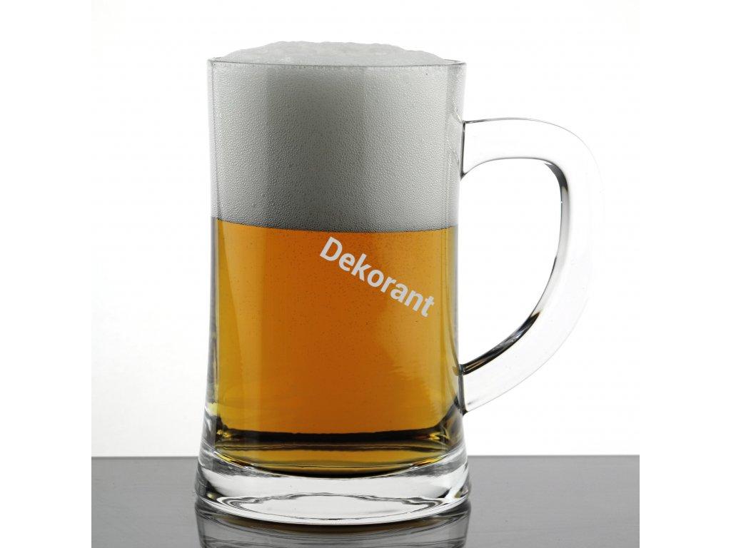 Crystal Bohemia čirá sklenice na pivo 0,5L 1KS