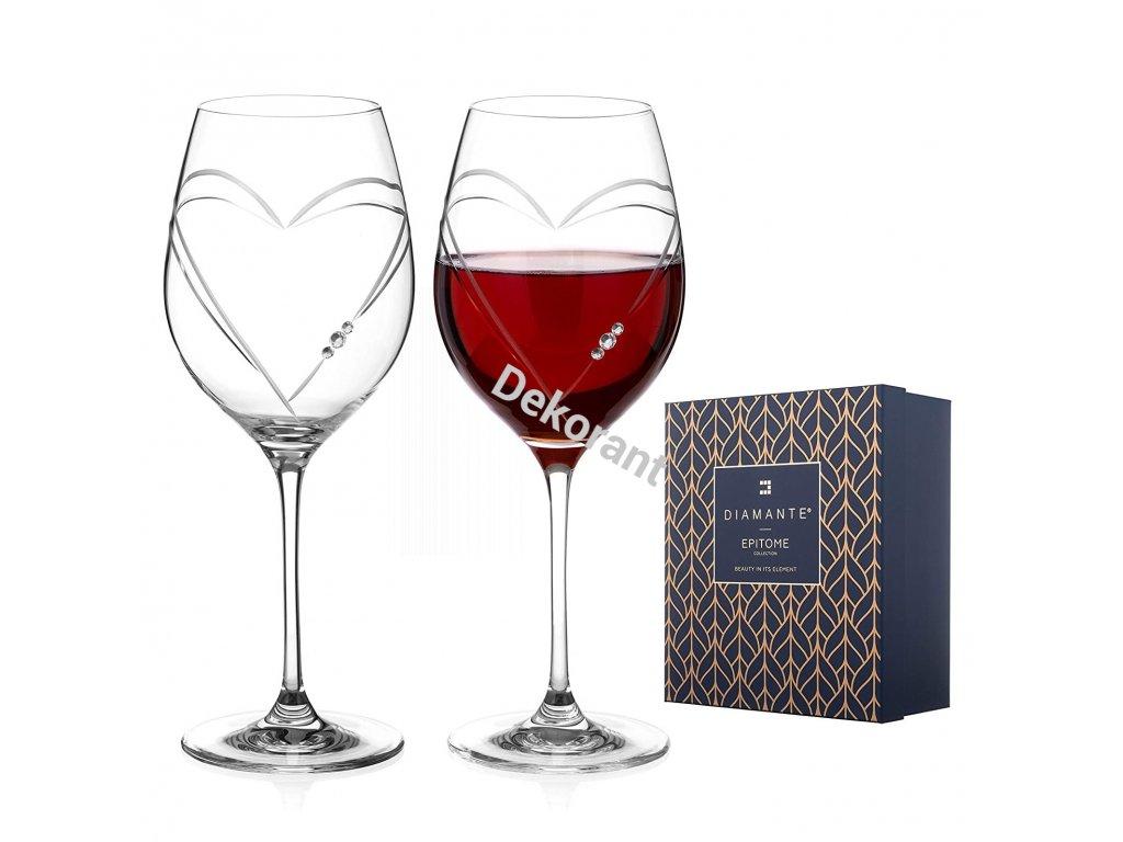 Hearts red wine box