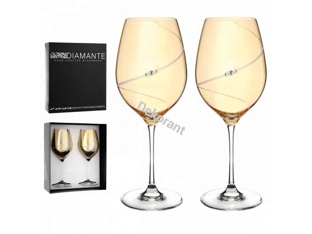 gold silhouette par na cervene vino s gravirovanim
