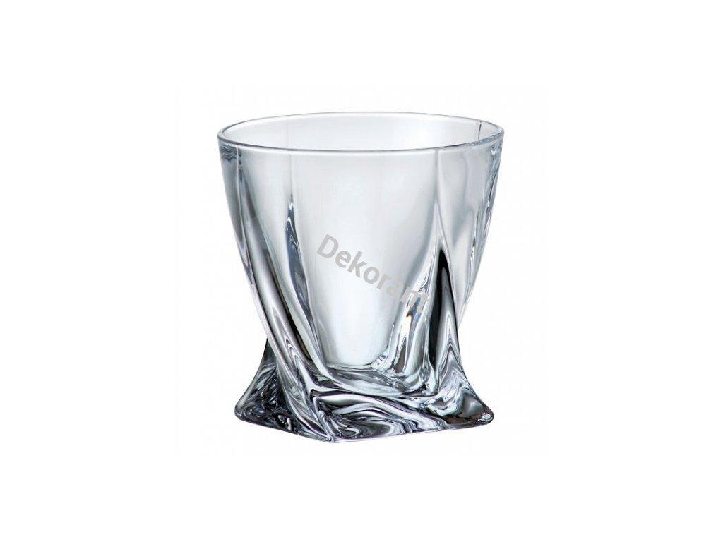 Crystalite Bohemia sklenice na whisky Quadro 340 ML, 6 KS