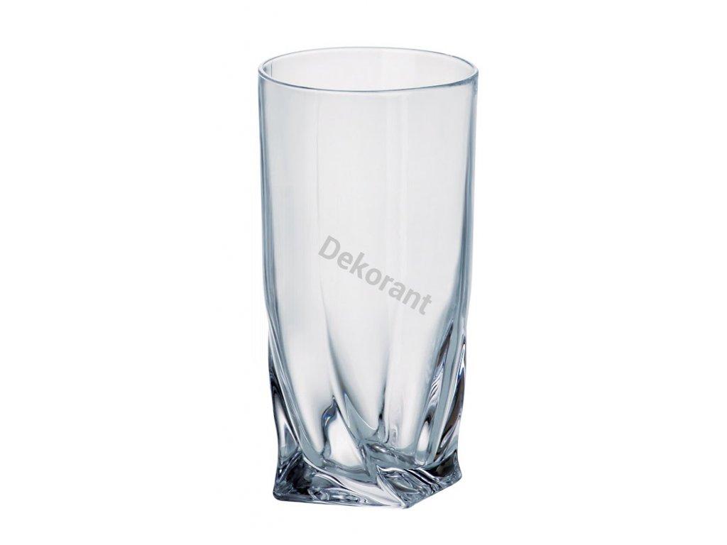 Crystalite Bohemia sklenice na vodu a nealko Quadro 350 ML, 6 KS