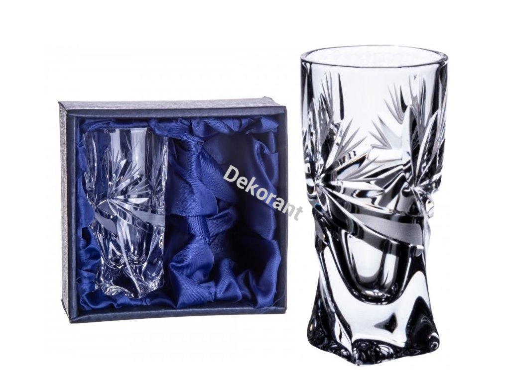 ručně broušené sklenice na likér Mašle v dárkovém saténovém balení 2ks kopie