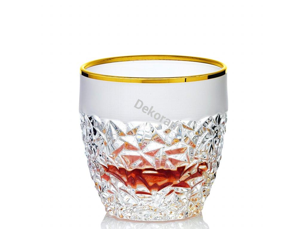 Ručně broušené whiskovky dekorované zlatem