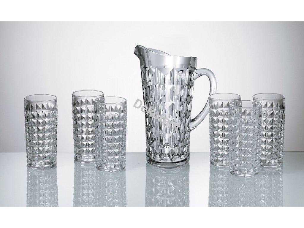 Diamond jug 6xH set (2)