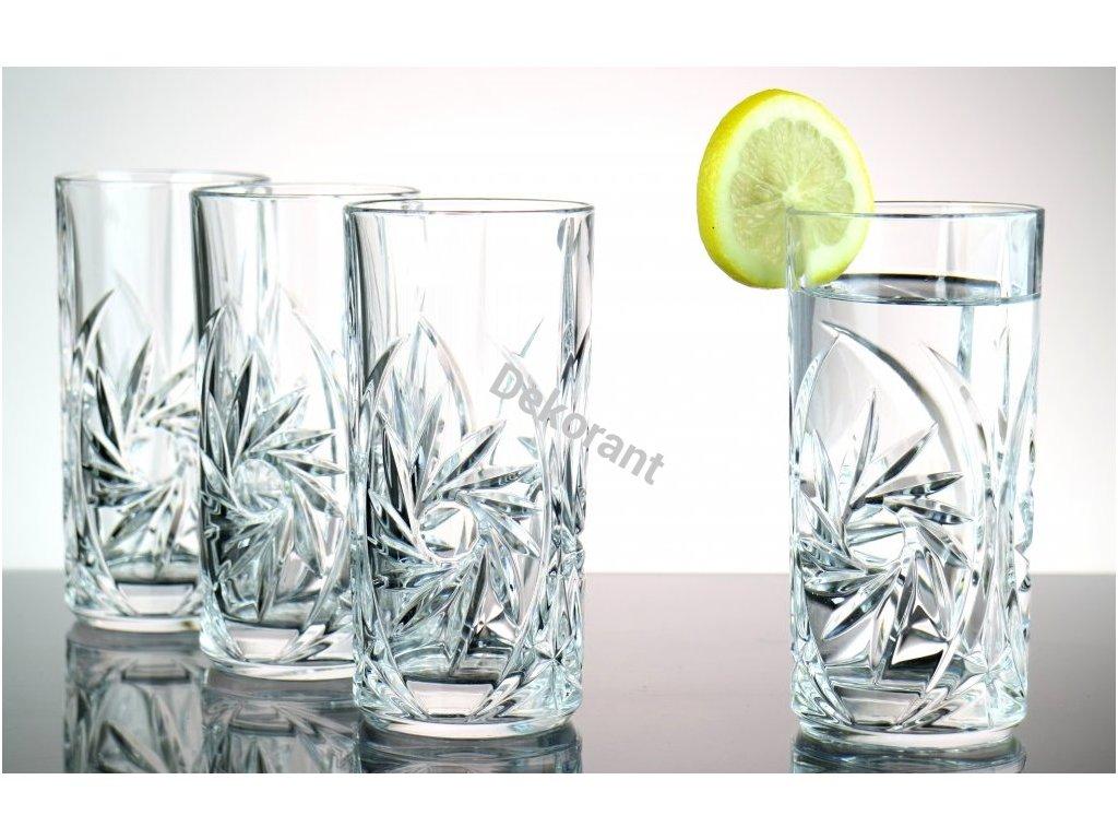 Pinwheel sklenice na vodu oriznuta 1
