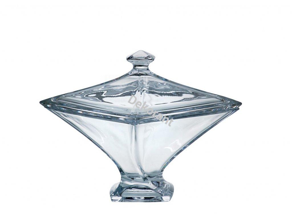 Crystalite Bohemia skleněná dóza Quadro 225 MM