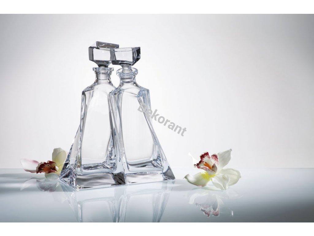 Crystalite Bohemia whisky set Lovers (1+6)