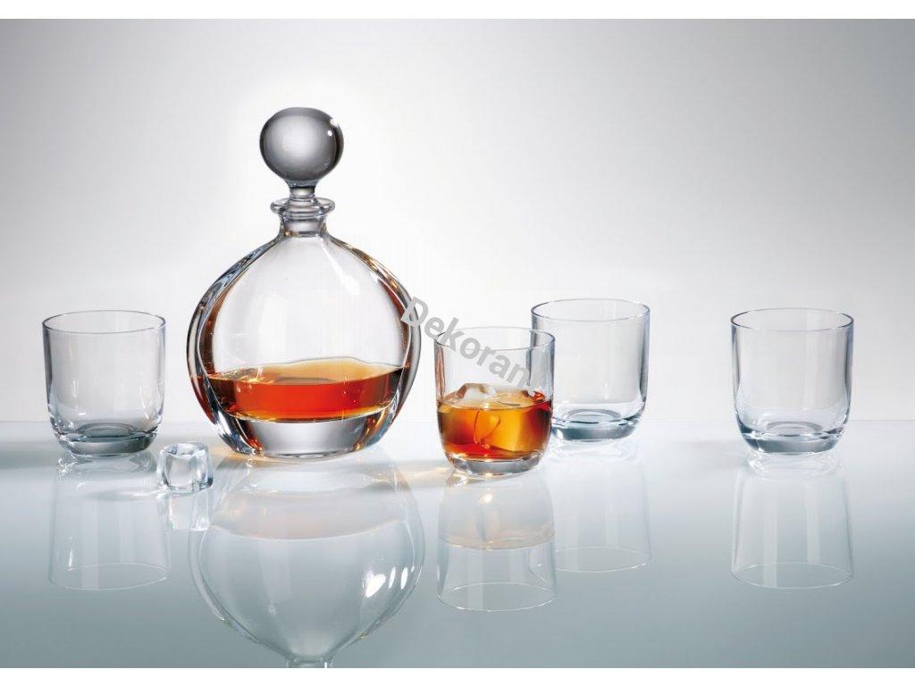 Crystalite Bohemia whisky set Orbit (1+6)