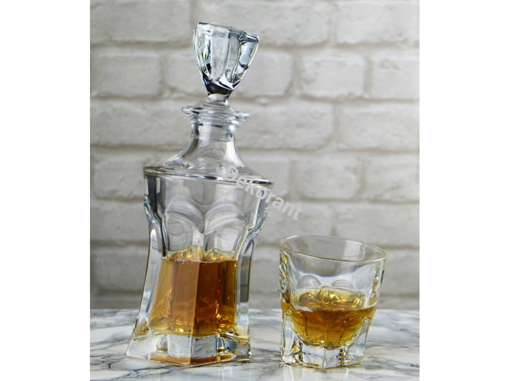 Crystalite Bohemia whisky set Acapulco (1+6)