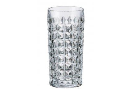 Crystalite Bohemia Long Drink sklenice na nealko nápoje Diamond 260 ml 6KS