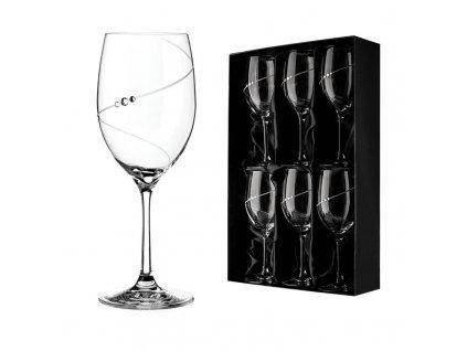silhouette cervene vino
