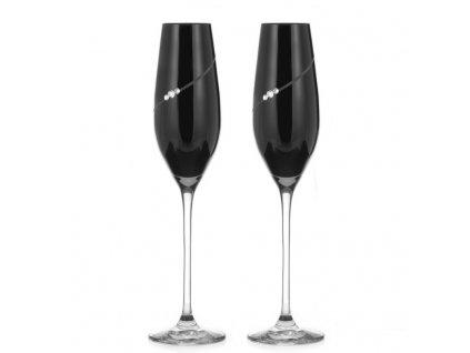 Silhouette City Black Epitome sklenice na šampaňské 2KS 1