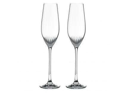 Diamante broušené sklenice na šampaňské Milano 210ml 2KS