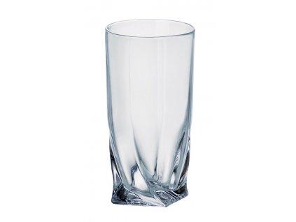 Crystalite Bohemia Long Drink sklenice na koktejly a nealko nápoje Quadro 350 ML, 6 KS