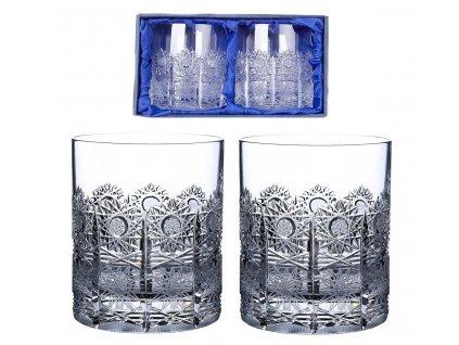 ručně broušené sklenice na whisky 500pk v dárkovém saténovém balení 2ks