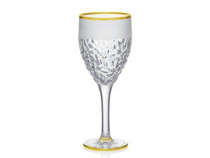 Úvodní Nicolette sklenice na bílé víno se zlatým ráfkem Gold