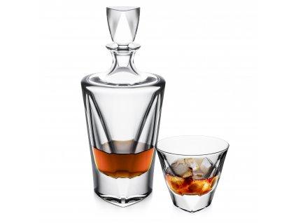 Bohemia Jihlava souprava na whisky Triangle 1+6