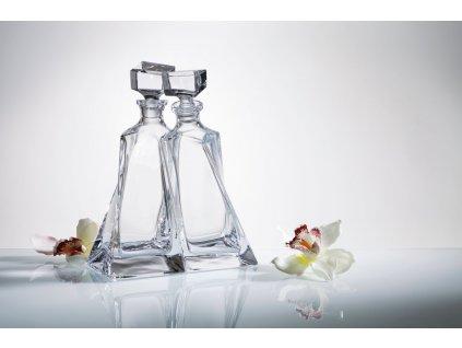 Crystalite Bohemia whisky set Lovers (1+1)