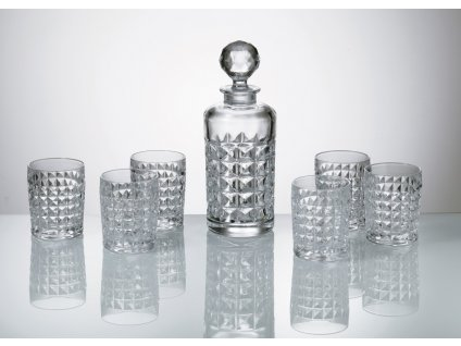 Crystalite Bohemia whisky set Diamond (1+6)