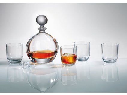 Crystalite Bohemia whisky set Orbit (1+6)