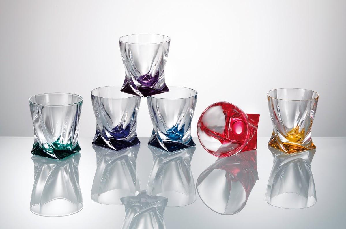 Barevné sklenice Quadro 340 ML, Crystalite Bohemia