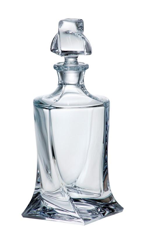Crystalite Bohemia skleněná karafa na whisky Quadro 850 ML