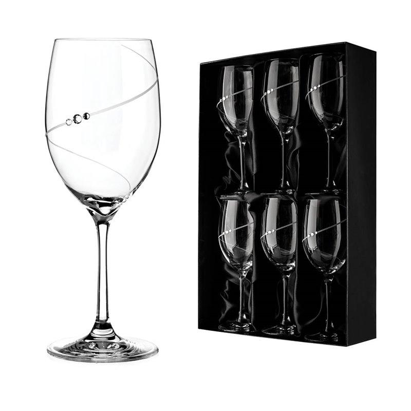 Diamante sklenice na červené víno Silhouette City 6KS 350ml