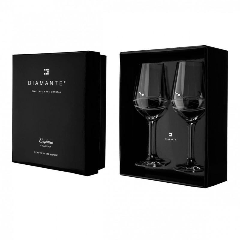 Diamante broušené sklenice na červené víno Venezia 470ml 2KS