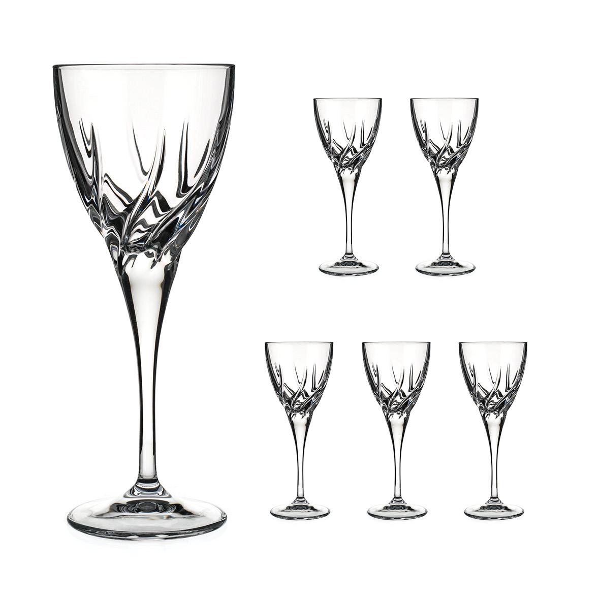 Diamante sklenice na bílé víno v dárkovém balení Firenze 250ml 6KS