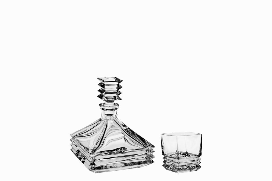 Crystal Bohemia souprava na whisky Maria (1+6)