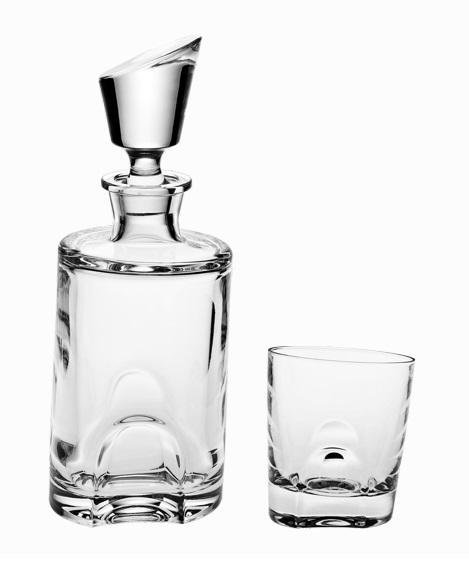 Crystal Bohemia souprava na whisky Torneo (1+6)