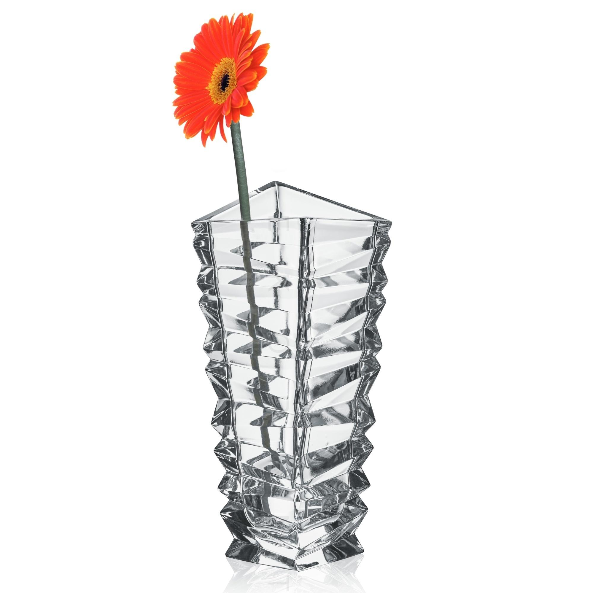 Bohemia Jihlava skleněná váza Rocky 28,5 CM