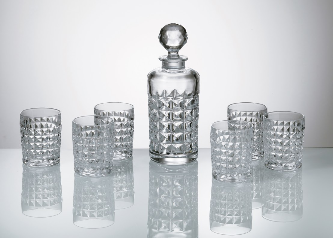 Crystalite Bohemia whisky set Diamond (1+6)
