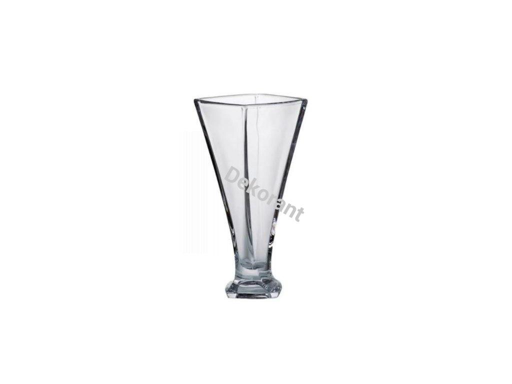 400 crystalite bohemia kristalova vaza quadro 27 cm