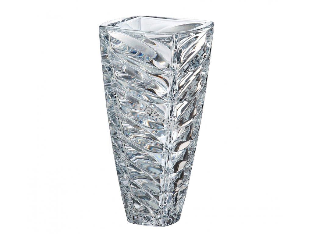 91 crystalite bohemia sklenena vaza facet 30 cm