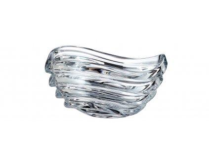 1220 1 crystalite bohemia sklenena misa wave 22 cm