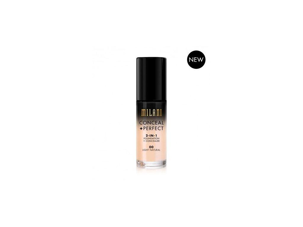 MILANI - 2v1 makeup a korektor 00 LIGHT NATURAL