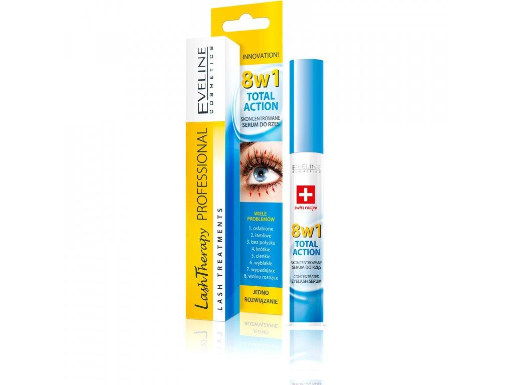 EVELINE - Koncentrované sérum na řasy 8v1 Lash Treatments