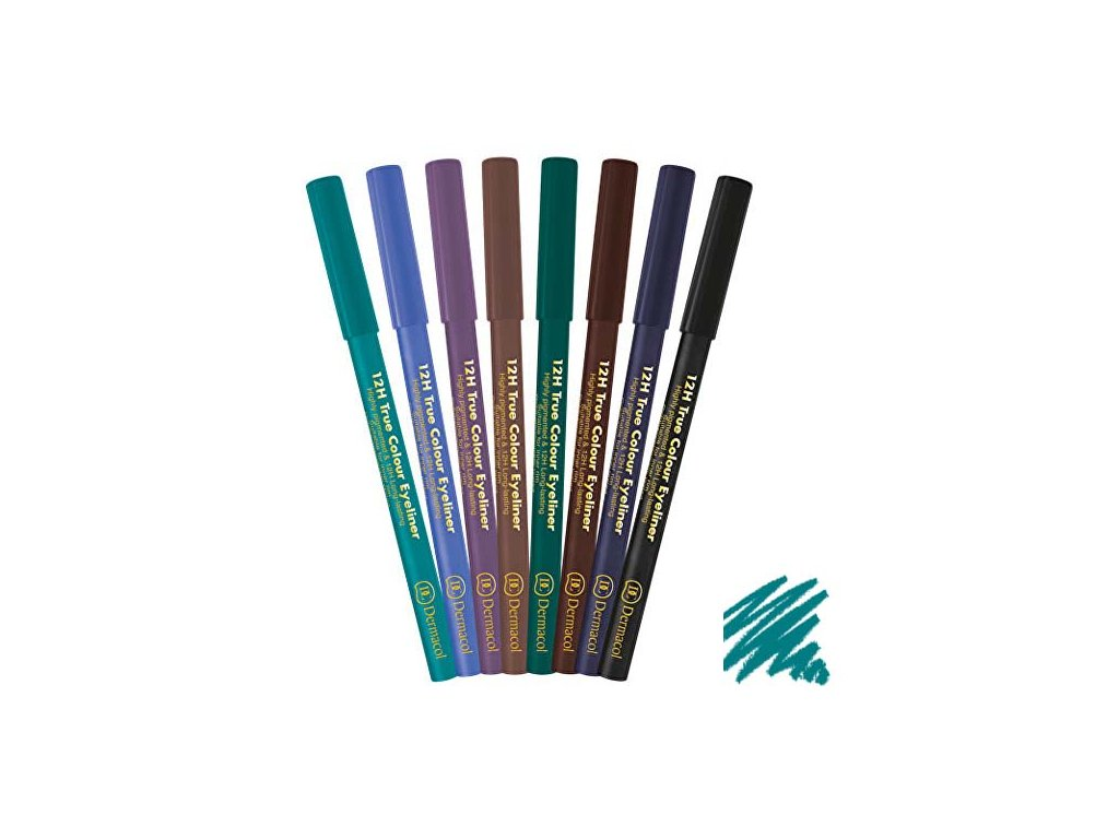 Dermacol - Tužka na oči 12H True Colour 1 turquoise