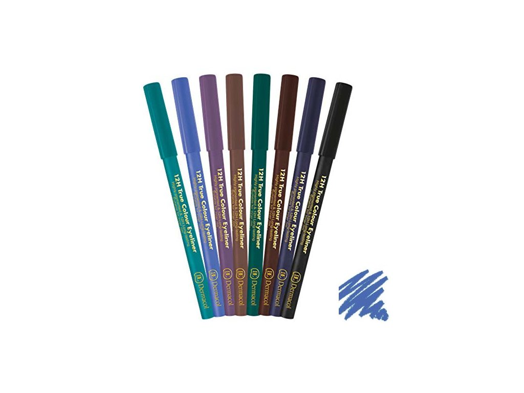 Dermacol - Tužka na oči 12H True Colour 2 electric blue