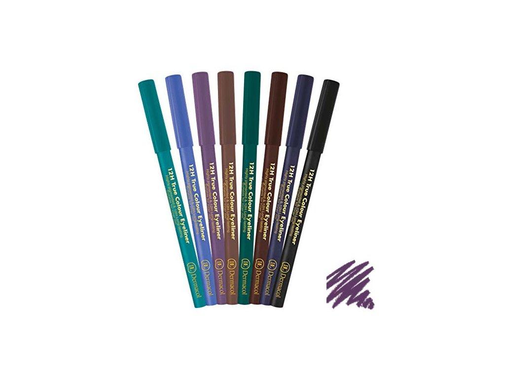 Dermacol - Tužka na oči 12H True Colour 3 purple
