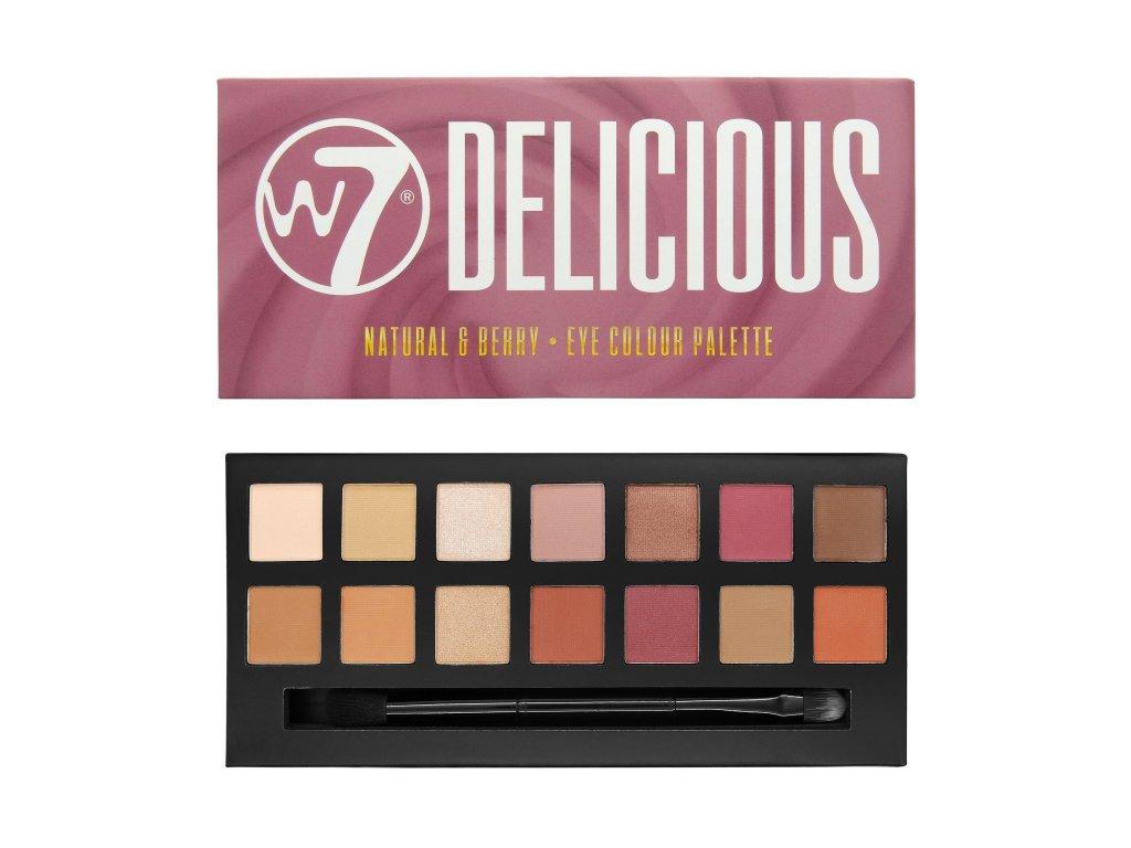 W7 - paletka očních stínů Delicious Natural & Berry