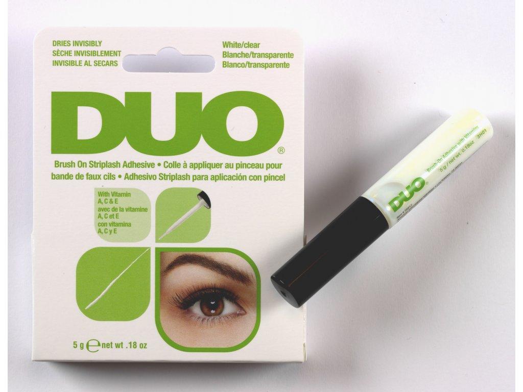 DUO - Lepidlo na umělé řasy čiré se štětečkem 5 g