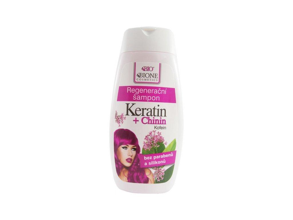 BIONE COSMETICS - BIO KERATIN + CHININ Regenerační šampon 260ml